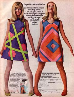 late 1960s womens fashion in the 1960s